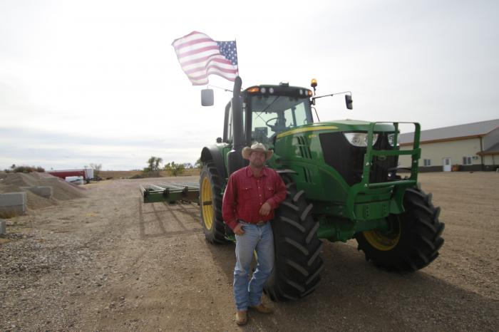 Cody Tobin poses for a photo on Friday, Oct. 16, 2020, in Wessington Springs, S.D.