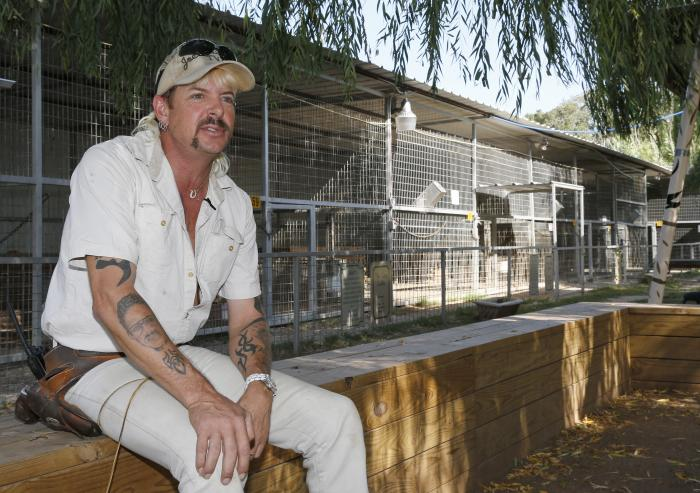Joseph Maldonado-Passage, also known as Joe Exotic, is seen at the zoo he used to run in Wynnewood, Okla.