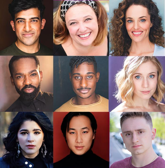 "The cast of SpeakEasy Stage's ""Songs for a New World"":  Rashed Al Nuaimi, Laura Marie Duncan, Jennifer Ellis, Dwayne P. Mitchell, Davron S. Monroe, Mikayla Myers, Rebekah Rae Robles, Alexander Tan, and Victor Carrillo Tracey"