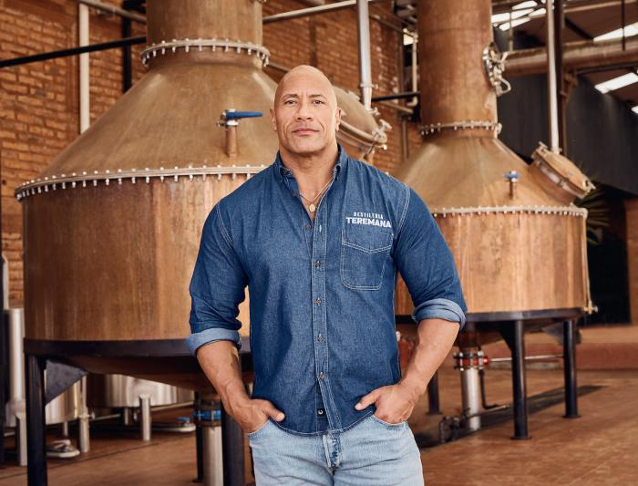 Dwayne Johnson, co-founder of Teremana Tequila at the Teremana tequila distillery in Jalisco, Mexico.