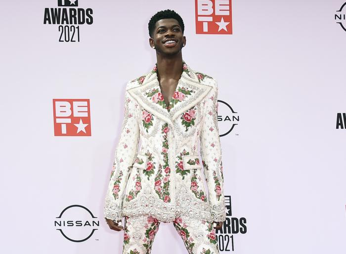Lil Nas X arrives at the BET Awards on June 27, 2021, in Los Angeles.